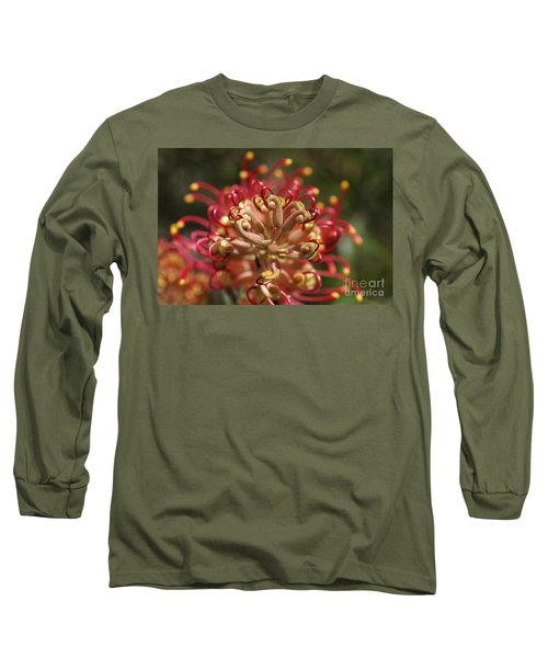Grevillea Superb Australian Flora Long Sleeve T-Shirt
