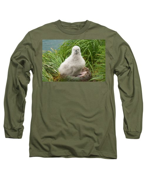 Grey-headed Albatross Chick Long Sleeve T-Shirt