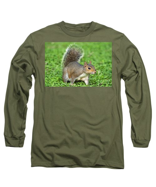 Long Sleeve T-Shirt featuring the photograph Grey Squirrel by Antonio Scarpi
