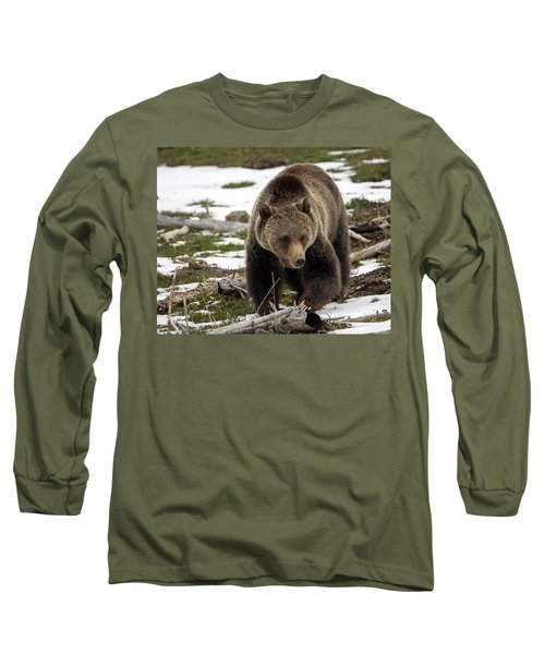 Long Sleeve T-Shirt featuring the photograph Grizzly Bear In Spring by Jack Bell