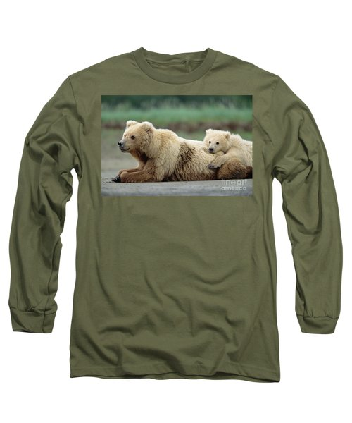 Grizzly Mother And Son Long Sleeve T-Shirt