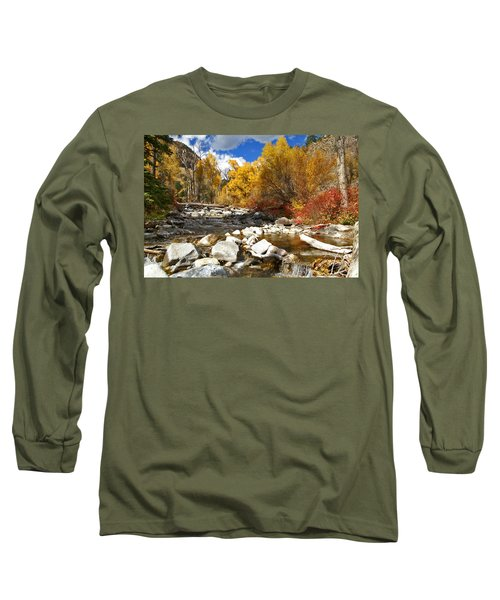 Long Sleeve T-Shirt featuring the photograph Grizzly Creek Canyon by Jeremy Rhoades