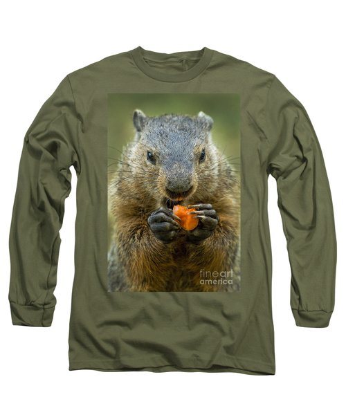 Groundhogs Favorite Snack Long Sleeve T-Shirt by Paul W Faust -  Impressions of Light