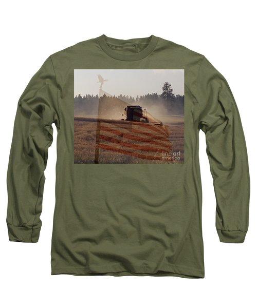 Grown In America Long Sleeve T-Shirt by Sharon Elliott