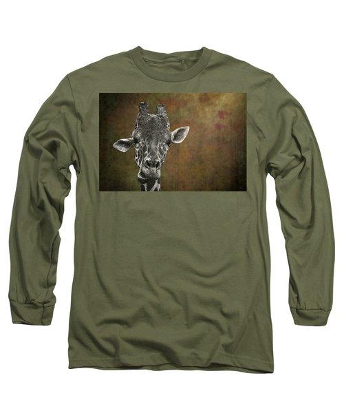 Grungy Giraffe 5654 Brown Long Sleeve T-Shirt