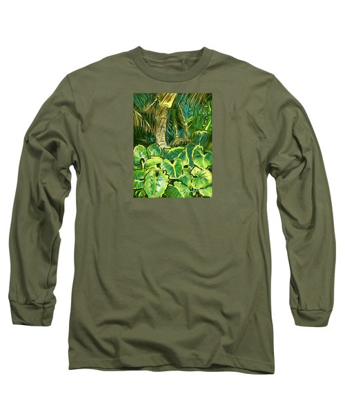 Guanabana Tropical Long Sleeve T-Shirt by Jean Pacheco Ravinski