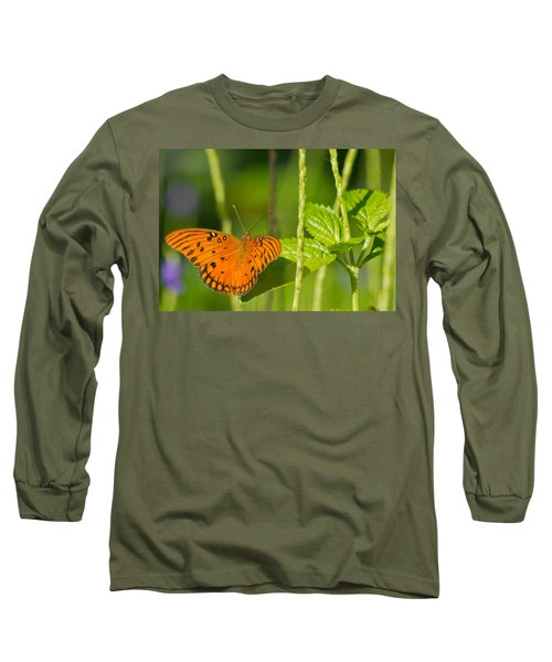 Long Sleeve T-Shirt featuring the photograph Gulf Fritillary by Jane Luxton