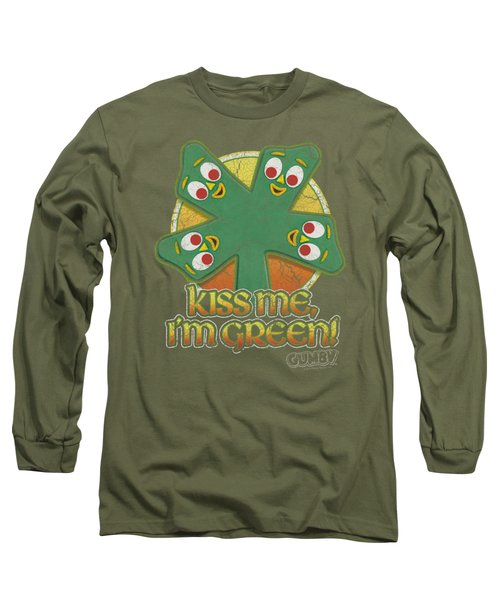Gumby - Kiss Me Long Sleeve T-Shirt