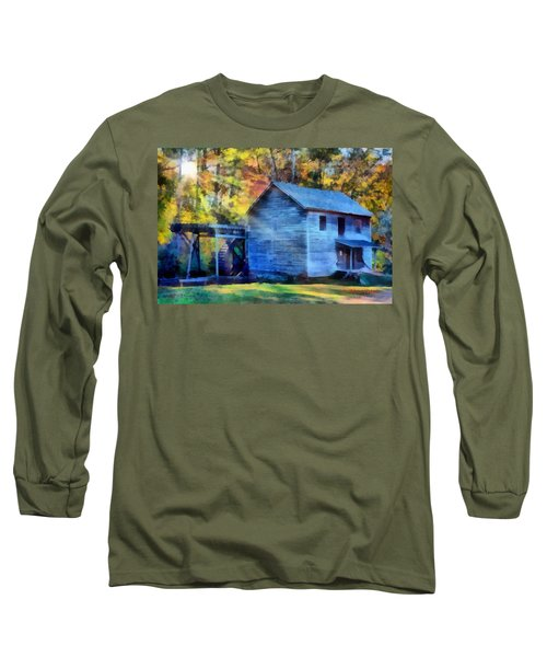 Hagood Mill With Sunrays Long Sleeve T-Shirt