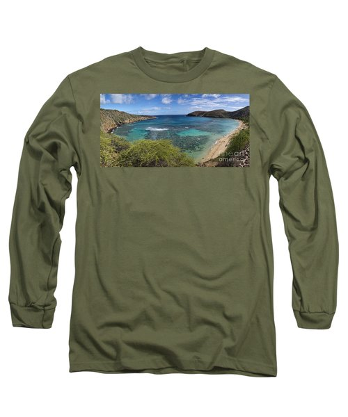 Hanauma Bay Panorama Long Sleeve T-Shirt