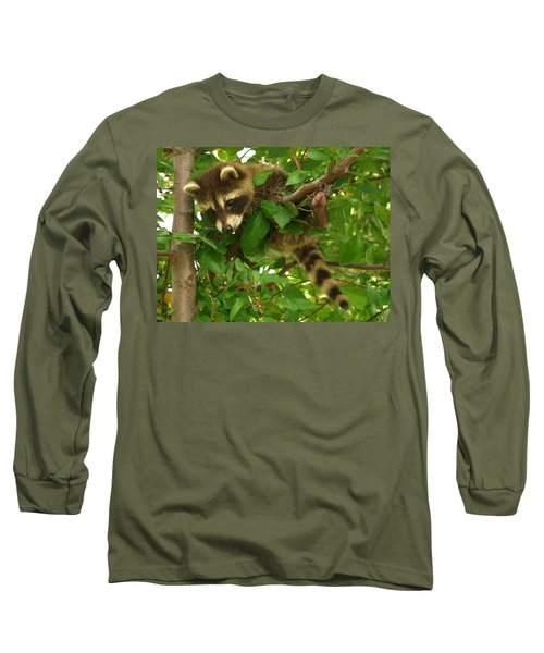 Long Sleeve T-Shirt featuring the photograph Hang In There by James Peterson
