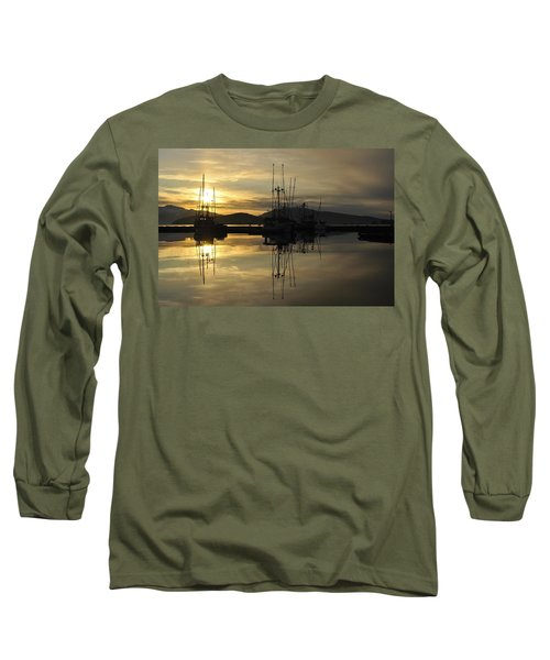 Long Sleeve T-Shirt featuring the photograph Harbor Sunset by Cathy Mahnke