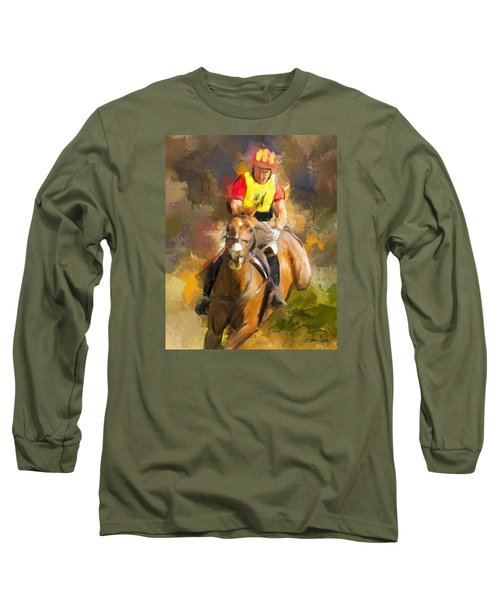 Long Sleeve T-Shirt featuring the painting Hard Left by Joan Davis