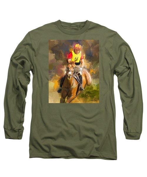 Hard Left Long Sleeve T-Shirt by Joan Davis