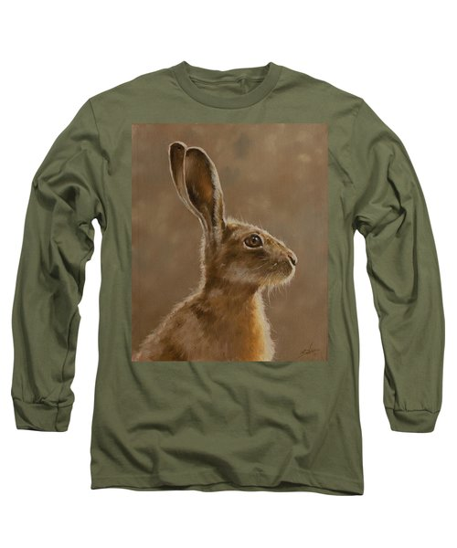 Hare Portrait I Long Sleeve T-Shirt
