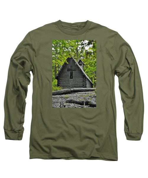 Hartwick Pines Chapel Bwg Long Sleeve T-Shirt