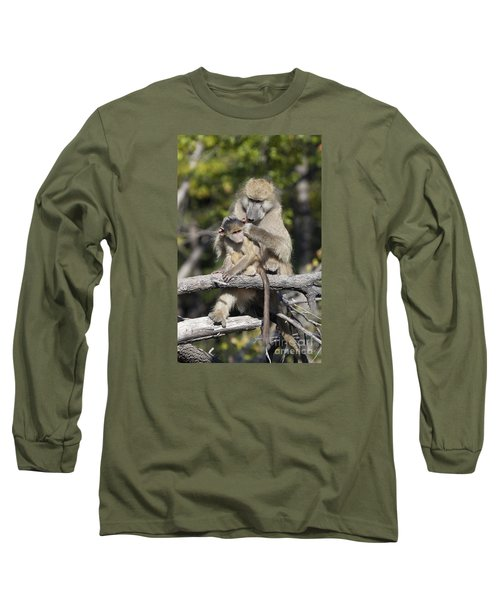 Long Sleeve T-Shirt featuring the photograph Have You Cleaned Behind Your Ears by Liz Leyden