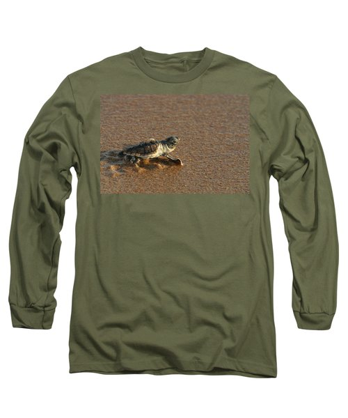 Heading Out To Sea Long Sleeve T-Shirt by Paul Rebmann