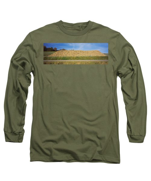 Heap Of Sugar Beets In A Field Long Sleeve T-Shirt