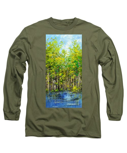 Long Sleeve T-Shirt featuring the painting Heat Of Summer by Tatiana Iliina