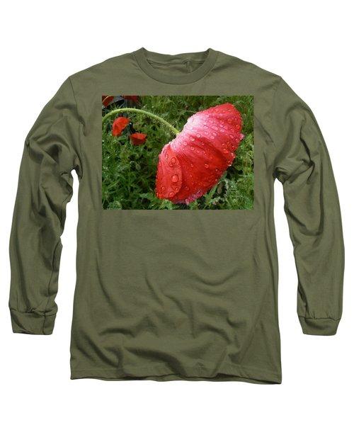 Heavy Head Poppy Long Sleeve T-Shirt