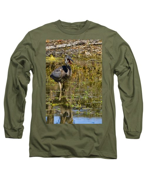Long Sleeve T-Shirt featuring the photograph Heimlich Please by Gary Holmes