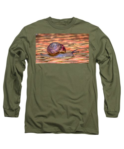 Long Sleeve T-Shirt featuring the photograph Helix Aspersa by Rob Sellers