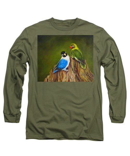 Long Sleeve T-Shirt featuring the painting Hello by Roseann Gilmore