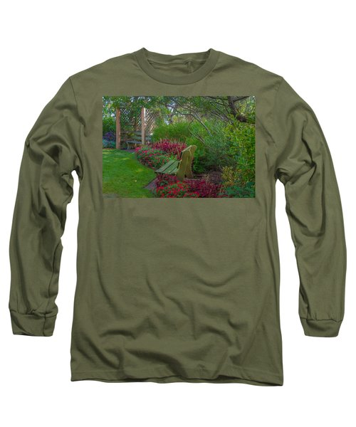 Hereford Inlet Lighthouse Garden Long Sleeve T-Shirt