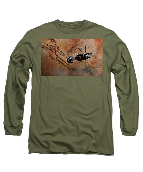 Hermes1 With The Mars Lander Ares1 In Sight Long Sleeve T-Shirt by David Robinson
