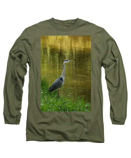 Heron Statue Long Sleeve T-Shirt