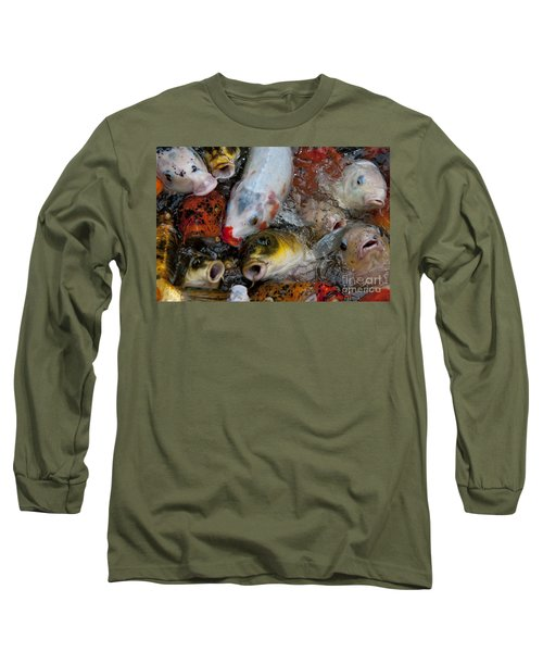 Hey Whats Happening Long Sleeve T-Shirt by Wilma  Birdwell