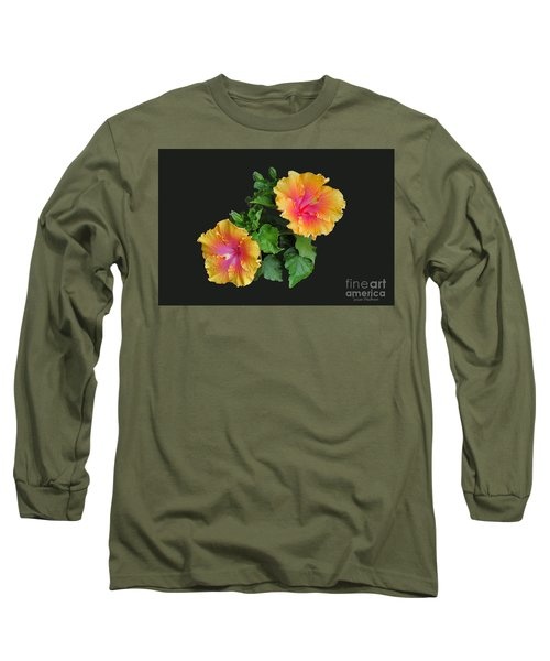 Long Sleeve T-Shirt featuring the photograph Hibiscus Duo by Susan Wiedmann