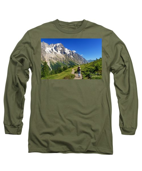 hiking in Ferret Valley Long Sleeve T-Shirt