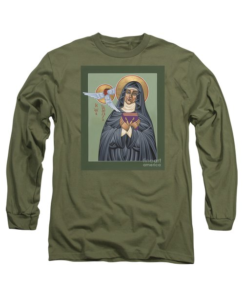Long Sleeve T-Shirt featuring the painting St. Hildegard Of Bingen 171 by William Hart McNichols