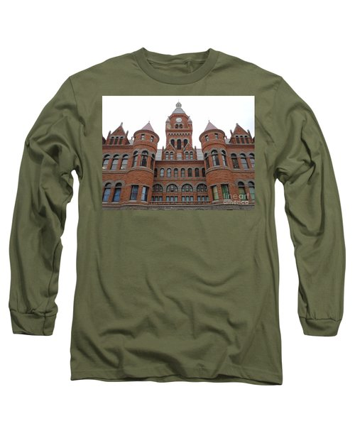 Long Sleeve T-Shirt featuring the photograph Historic Old Red Courthouse Dallas #1 by Robert ONeil