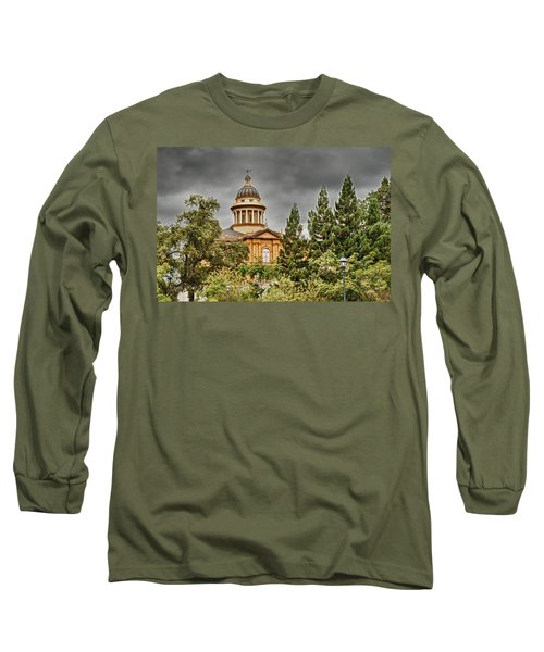 Long Sleeve T-Shirt featuring the photograph Historic Placer County Courthouse by Jim Thompson