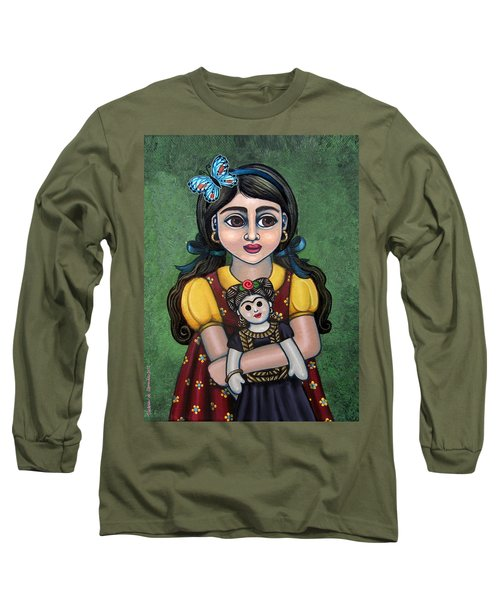 Holding Frida With Butterfly Long Sleeve T-Shirt