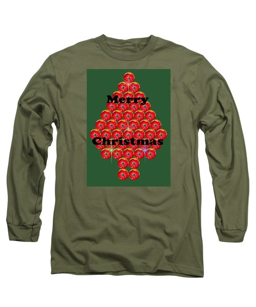 Holiday Tree Of Orbs 1 Long Sleeve T-Shirt by Nick Kloepping