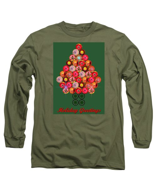 Holiday Tree Of Orbs 3 Long Sleeve T-Shirt by Nick Kloepping