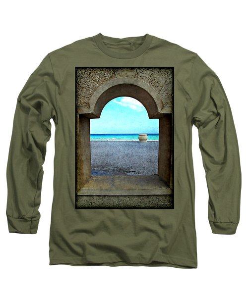 Hollywood Beach Arch Long Sleeve T-Shirt by Joan  Minchak