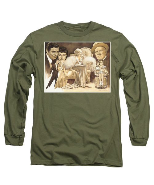 Hollywoods Golden Era Long Sleeve T-Shirt by Dick Bobnick