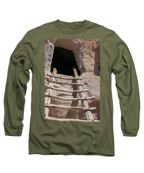 Home In Frijoles Canyon Long Sleeve T-Shirt by Lynn Sprowl