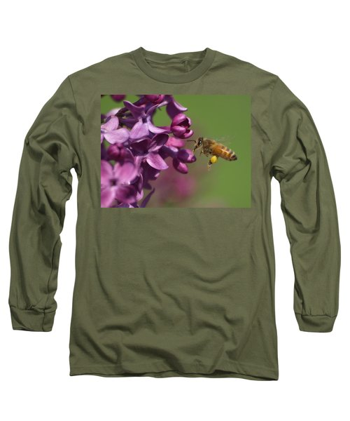 Honey Bee And Lilac Long Sleeve T-Shirt