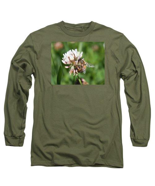 Honeybee On Clover Long Sleeve T-Shirt