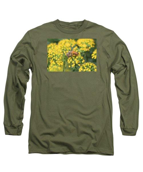 Honeybee On Dill Long Sleeve T-Shirt