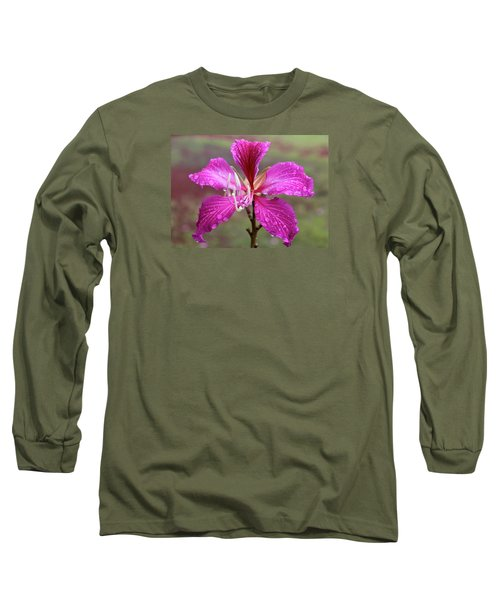 Hong Kong Orchid Tree Flower Long Sleeve T-Shirt by Venetia Featherstone-Witty