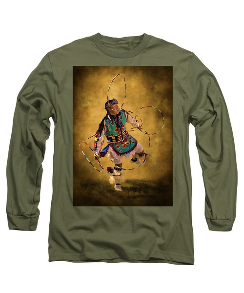 Hooping His Heart Out Long Sleeve T-Shirt by Priscilla Burgers