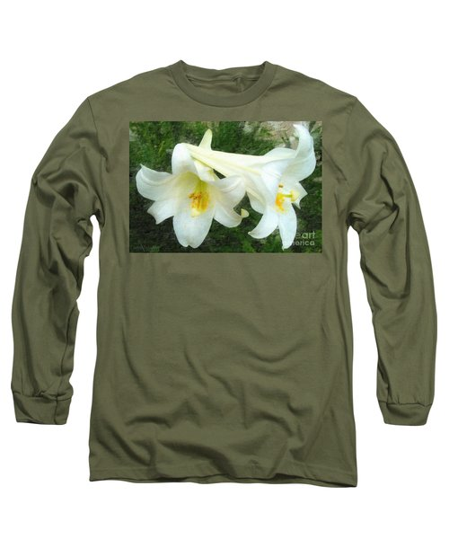Long Sleeve T-Shirt featuring the digital art Hope Is Risen by Lianne Schneider