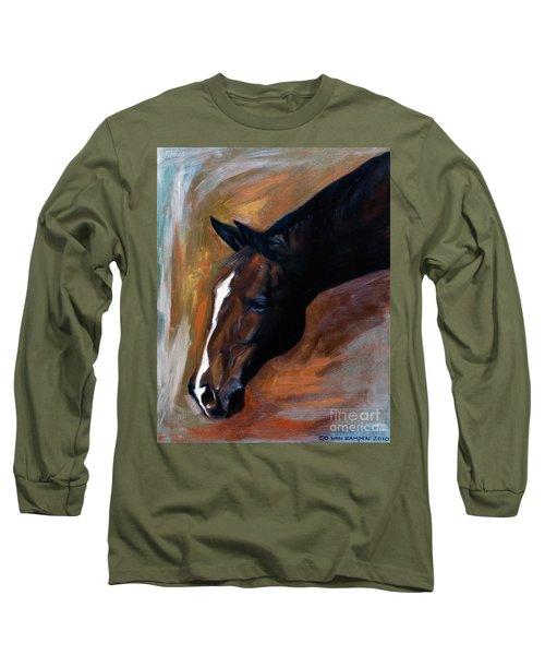 horse - Apple copper Long Sleeve T-Shirt by Go Van Kampen